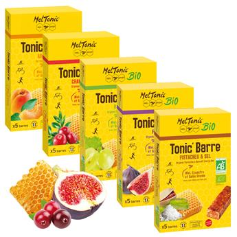 Lot de 5 étuis TONIC'Barres assorties